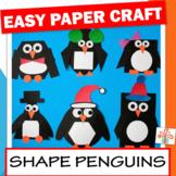Shape Penguin Craft / Shape Unit / Cut and Paste Winter Craft