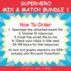 Mix & Match - Superheroes Classroom Theme Bundle #1 - 100% Editable