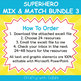 Mix & Match - Superheroes Classroom Theme  Bundle #3 - 100% Editable