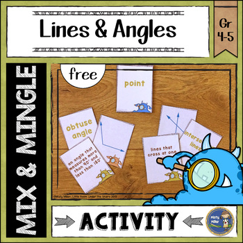 Lines and Angles Mix and Mingle {free}