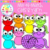 Mix-N-Match: Cats & Yarn Clipart