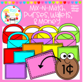 Mix-N-Match: Purses, Wallets, & Money Clipart