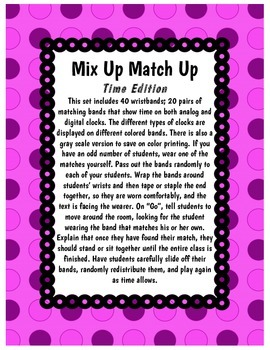 Mix Up Match Up - Time Edition