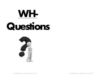 Mix WH-Question Flip-book