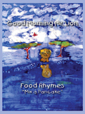Mix a Pancake: nursery rhyme with speech ostinato and percussion instruments