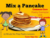 Mix a Pancake Close Read Poetry Activities