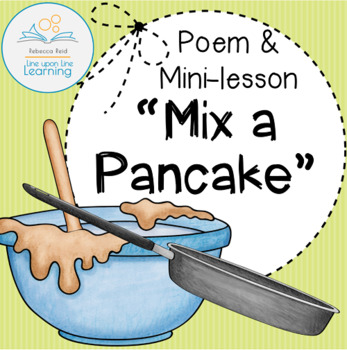 Mix a Pancake Poem FREEBIE