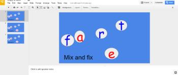 Mix and Fix kindergarten sight words