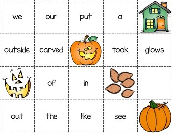 Mix and Make Sentences Three in All for Halloween