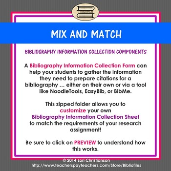 Mix-and-Match Bibliography Information Collection System