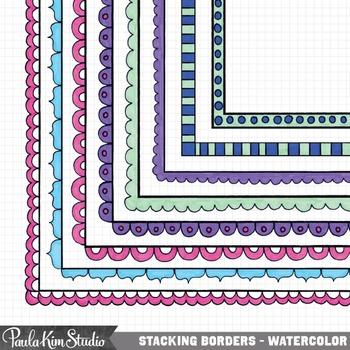 Borders - Watercolor Doodles