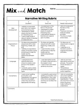 Mix and Match Picture Prompts for Creative Writing