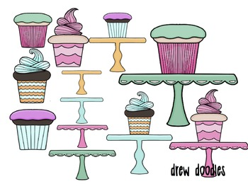 Mix and Match Cupcakes Digital Clip Art Set
