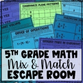 Mix and Match Escape Room: Fifth Grade Math