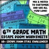 Mix and Match Escape Room: Sixth Grade Math