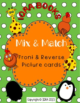 Visual Perceptual - Mix and Match Front and Reverse Memory Card Game