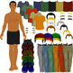 Mix and Match Human Parts Clip Art