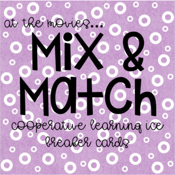 Mix and Match Ice Breaker Cards - At the Movies