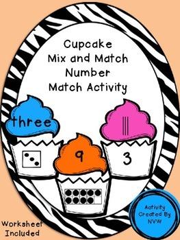 Mix and Match Math Cupcakes