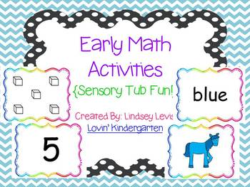 Early Math Sensory Tub Activities