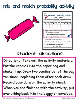 Mix and Match Probability Activity