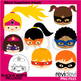 Mix and Match Superhero Body and Head / Clip Art Bundle