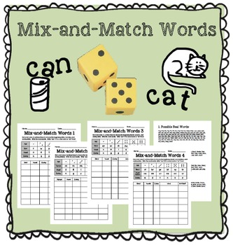 Mix-and-Match Word Literacy Station Phonics Game