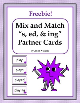 "Mix and Match ""s, ed, & ing"" Partner Cards"