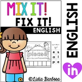 Mix it! Fix it! Kinder Sight Words {dolch list}