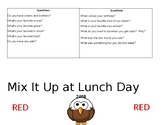 Mix it Up at Lunch Table Tent