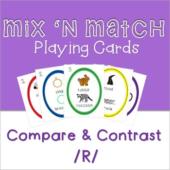 Playing Cards for Mixed Groups - Compare/Contrast with R words
