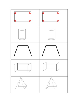 Mixed 2D and 3D geometric shape matching game in SPANISH