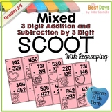 Mixed Regrouping 3 Digit Addition and Subtraction Scoot