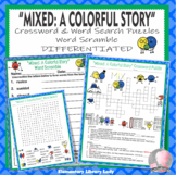 Mixed A Colorful Story Activities Crossword Word Searches Word Scramble