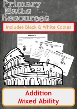 Ancient Roman Themed Addition Worksheets
