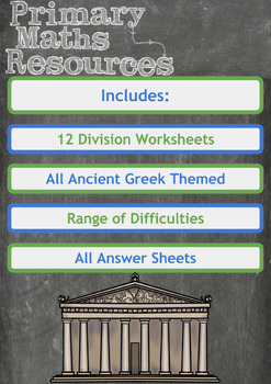 Division Worksheets - Ancient Greek Themed