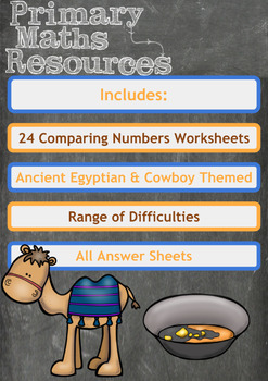 Mixed Ability, Themed Comparing Numbers Worksheets
