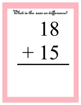 Mixed Addition & Subtraction using 20 and Less ~ 100 Equations in 200 page ebook