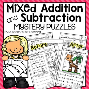 Mixed Addition and Subtraction Mystery Puzzles