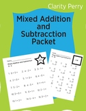 Mixed Addition and Subtraction Packet 0-20