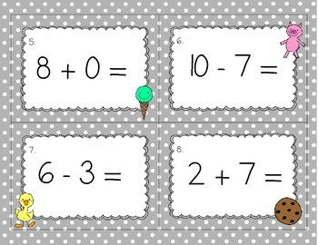 Mixed Addition and Subtraction Read the Room/Scoot Game