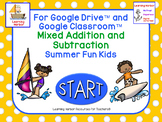 Mixed Addition and Subtraction Summer Fun Kids FREE Resource for Google Drive™