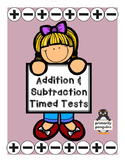 Mixed Addition and Subtraction Timed Tests