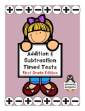 Mixed Addition and Subtraction Timed Tests- First Grade Edition