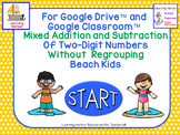 Mixed Addition and Subtraction Two-Digit Numbers Without Regrouping Beach Kids