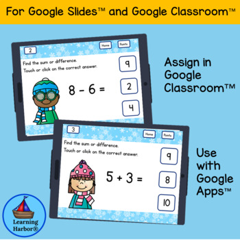 Mixed Addition and Subtraction Within 10 for Google Classroom™