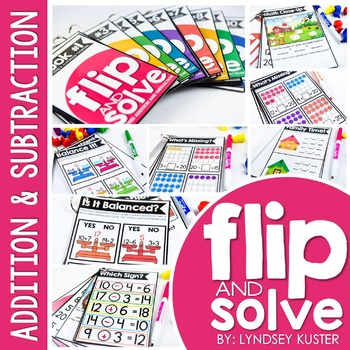 Mixed Addition and Subtraction Within 20 - Flip and Solve Books