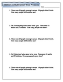 Mixed Addition and Subtraction Word Problems - 2.NBT.5