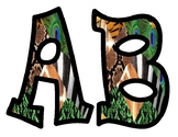 Mixed Animal Prints Alphabet Bulletin Board Letters
