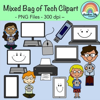 Mixed Bag of Tech Clipart